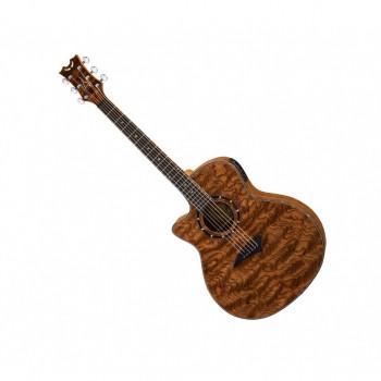 Dean Exotica A/E Bubinga Wood Lefty - электроакустическая гитара ЛЕВОСТОРОННЯЯ,цвет-натуральный