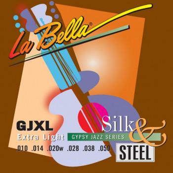 La Bella GJXL-LE Gypsy Jazz Silk&Steel Extra Light Компект струн для акустической гитары 10-50 LaBella