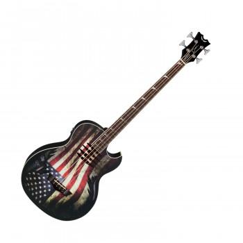 "Dean MAKOB GLORY - электроакуст. бас-гитара, 34"",EQ,тюнер, гр. ""американский флаг"""
