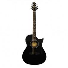 GregBennett GA100SCE/BK - Электроакуст. гитара с вырезом, цвет черный (Индонезия).