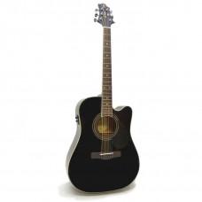 GregBennett GD100SCE/BK - Электроакуст. гитара с вырезом, цвет черный (Индонезия).