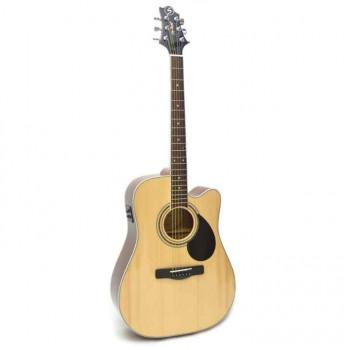 GregBennett GD100SCE/N - Электроакуст. гитара с вырезом, цвет натурал (Индонезия).
