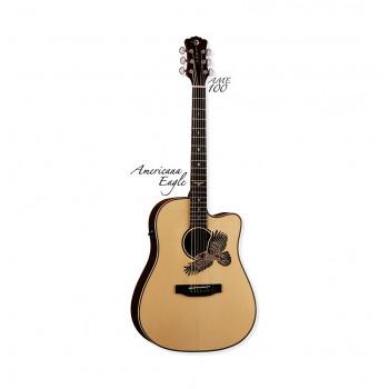 Luna AME 100 - электроакустическая гитара дредноут с вырезом
