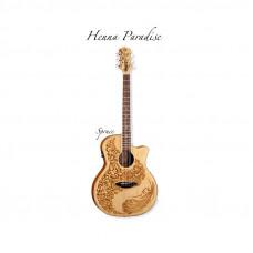 Luna Hen Sah Spr - электроакустическая фолк-гитара с вырезом