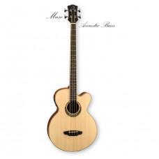 """Luna MUS BASS - электроакустическая бас-гитара, """"джамбо"""", ель, кельтский узор, цвет натуральный"""