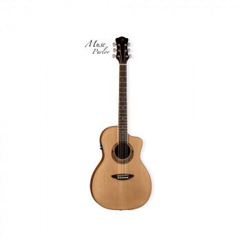 Luna Par B - электроакустическая гитара с вырезом, цвет натуральный