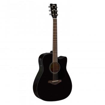 Yamaha FGX800C BL - электроакустическая гитара с вырезом, цвет черный
