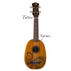 Luna UKE TATTOO- укулеле, сопрано, чехол, лазерная гравировка - кельтский узор