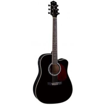 Naranda DG220CEBK Акустическая гитара со звукоснимателем с вырезом
