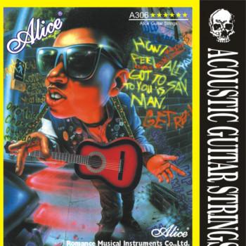 Alice A306P-SL Комплект струн для акустической гитары посереберенная медь 11 [20]