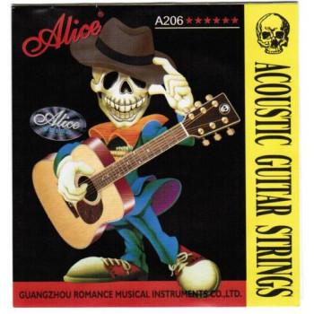 Alice A206-L Light Комплект струн для акустической гитары фосфорная бронза 12-53 [20]