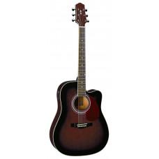 Naranda DG220CE-WRS Акустическая гитара со звукоснимателем с вырезом