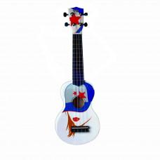 "WIKI UK/CAP - гитара укулеле сопрано липа, рисунок ""кепка"", чехол в комплекте"