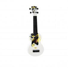 "WIKI UK/FLORAL - гитара укулеле сопрано, липа, рисунок ""девушка с цветами"", чехол в комплекте"