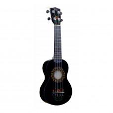 "WIKI UK/HOHLOMA - гитара укулеле, сопрано, липа, рисунок ""ХОХЛОМА"", чехол в комплекте."