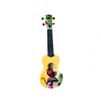 """WIKI UK/HULA - гитара укулеле сопрано, липа, рисунок """"HULA"""", чехол в комплекте"""