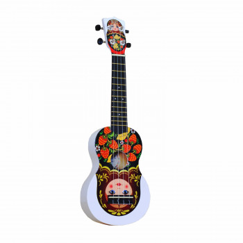 "WIKI UK/MATR - гитара укулеле, сопрано, липа, рисунок ""МАТРЁШКА"", чехол в комплекте."