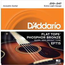 D`Addario EFT15 FLAT TOPS Струны для акустической гитары фосфорная бронза 10-47 D`Addario