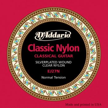 D`Addario EJ27N  CLASSIC Струны для классической гитары нейлоновые Student Normal D`Addario
