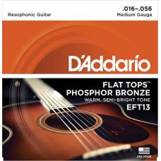 D`Addario EFT13 FLAT TOPS Струны для акустической гитары фосфорная бронза 16-56 D`Addario