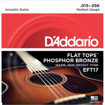 D`Addario EFT17 FLAT TOPS Струны для акустической гитары фосфорная бронза 13-56 D`Addario