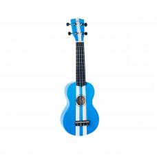 WIKI UK/RACING BLUE - гитара укулеле сопрано, липа, расцв. спортивного авто, чехол в компл.
