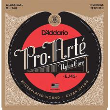 D`Addario EJ45 PRO ARTE Струны для классической гитары нейлоновые Normal D`Addario