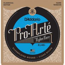 D`Addario EJ46 PRO ARTE Струны для классической гитары нейлоновые Hard D`Addario
