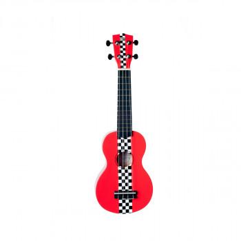 WIKI UK/RACING RED - гитара укулеле сопрано, липа, расцв. спортивного авто, чехол в компл