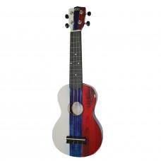 WIKI UK/RU - гитара укулеле сопрано, липа, изображение Российского флага, чехол в комплекте