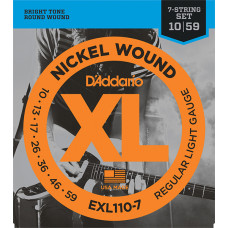 D`Addario EXL110-7 XL NICKEL WOUND Струны для 7-струнной электрогитары Regular Light 7-string 10-59 D`Addario
