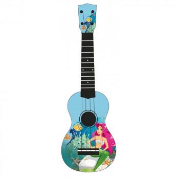 "WIKI UK/SIRENE - гитара укулеле сопрано, рисунок ""русалка"""