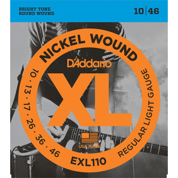 D`Addario EXL110 XL NICKEL WOUND Струны для электрогитары Regular Light 10-46 D`Addario