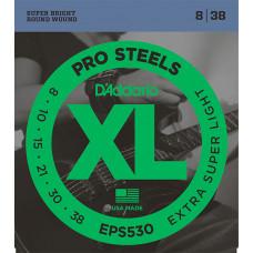 D`Addario EPS530 XL PRO STEEL Струны для электрогитары Extra-Super Light 8-38 D`Addario