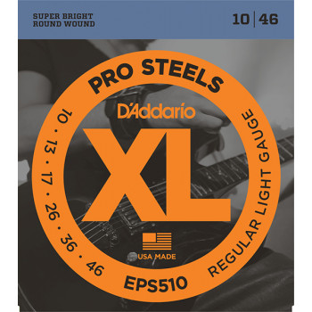 D`Addario EPS510 XL PRO STEEL Струны для электрогитары Regular Light 10-46 D`Addario
