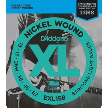 D`Addario EXL158 XL NICKEL WOUND Струны для электрогитары Baritone-Light 13-62 D`Addario