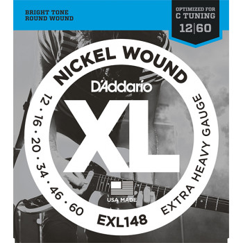 D`Addario EXL148 XL NICKEL WOUND Струны для электрогитары Extra Heavy 12-60 D`Addario