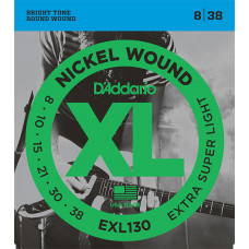 D`Addario EXL130 XL NICKEL WOUND Струны для электрогитары Extra Super Light 8-38 D`Addario