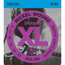 D`Addario EXL120 XL NICKEL WOUND Струны для электрогитары Super Light 9-42 D`Addario