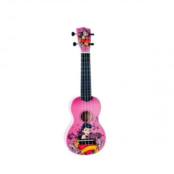 "WIKI UK/TATTOO - гитара укулеле сопрано, липа, графика ""татуировка"",чехол в компл"