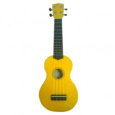 WIKI UK10G YLW -  гитара укулеле сопрано,клен, цвет желтый глянец, чехол в комплекте
