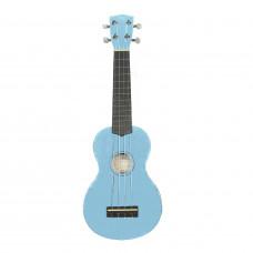 WIKI UK10G/BBL -  гитара укулеле сопрано, клен, цвет синий глянец, чехол в комплекте
