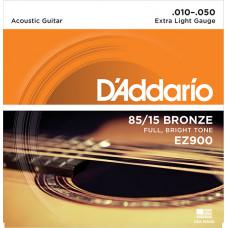 D`Addario EZ900 AMERICAN BRONZE 85/15 Струны для акустической гитары Extra Light 10-50 D`Addario