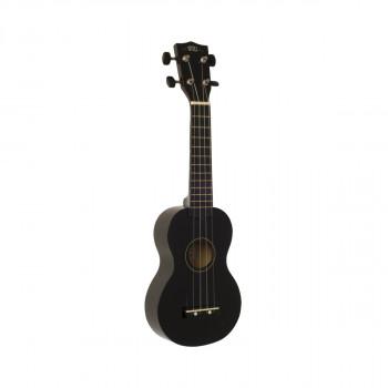 WIKI UK10G/BK -  гитара укулеле сопрано, клен, цвет черный глянец, чехол в комплекте