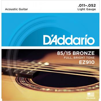 D`Addario EZ910 AMERICAN BRONZE 85/15 Струны для акустической гитары Light 11-52 D`Addario