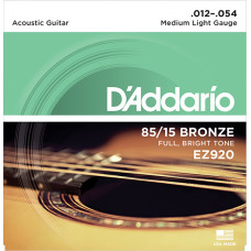 D`Addario EZ920 AMERICAN BRONZE 85/15 Струны для акустической гитары Medium Light 12-54 D`Addario
