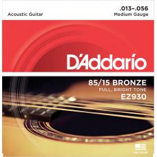 D`Addario EZ930 AMERICAN BRONZE 85/15 Струны для акустической гитары Medium 13-56 D`Addario