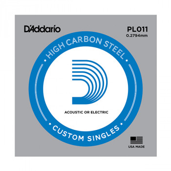 """D`Addario PL011 PLAIN STEEL Отдельная стальная струна без обмотки 0.011"""" D`Addario"""