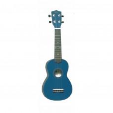 WIKI UK10G/BL - гитара укулеле сопрано, клен, цвет синий глянец, чехол в комплекте
