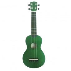 WIKI UK10G/GR -  гитара укулеле сопрано, клен, цвет - зеленый глянец, чехол в комплекте